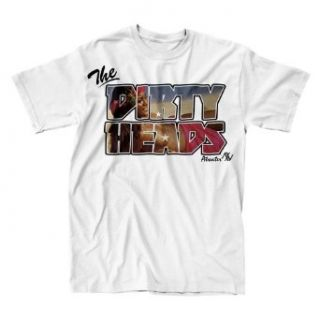 Dirty Heads   Aloha Mens Slim T Shirt in White, Size X large, Color White Clothing