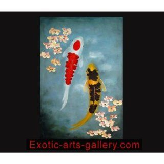 Original Modern Abstract Oil Paintings on Canvas Art Koi Painting 335