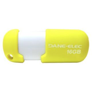 Dane Elec 16G USB Flash Drive w/Cloud   Yellow/