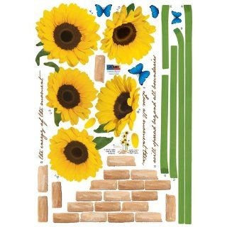 Reusable Decoration Wall Sticker Decal   ECO Morning Sunflowers  Nursery Wall D?cor  Baby