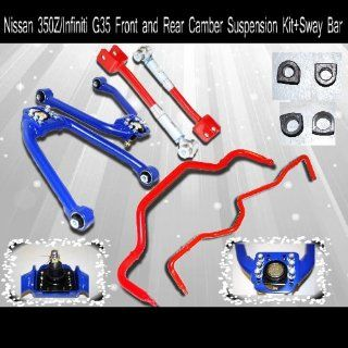 Nissan 350Z/Infiniti G35 Front and Rear Camber Suspension Kit+Sway Bar Automotive