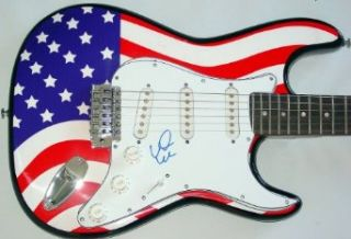 Earth Wind & Fire Autographed Signed USA Guitar & Proof PSA/DNA Earth Wind Entertainment Collectibles