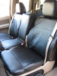 Exact Seat Covers, F369 L1, 2004 2008 Ford F150 XLT Regular or Super Cab Front 40/20/40 Split Seat Custom Exact Fit Seat Covers, Black Leatherette Automotive