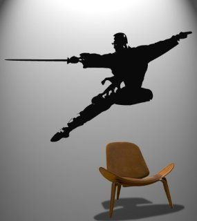 Vinyl Wall Decal Sticker Chinese Kung Fu Sword in Flight Martial Arts #371   Other Products