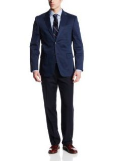 Tommy Hilfiger Men's Gibbs Navy Two Button Side Vent Sport Coat at  Men�s Clothing store
