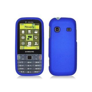 Blue Hard Cover Case for Samsung Gravity TXT SGH T379 Cell Phones & Accessories