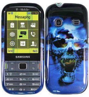 Blue Skull Hard Case Cover for Samsung Gravity TXT T379 Cell Phones & Accessories