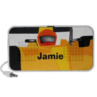 Personalize Race Car Birthday Party Gifts Notebook Speaker
