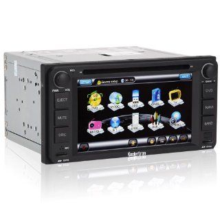 Koolertron For Toyota Matrix & Toyota Corolla EX & 2002 2006 Camry & 1996 2005 RAV4 & 2001 2007 Highlander & old Land Cruiser & FJ Cruiser & Hilux & Previa & Vits & Vela / In Dash Car DVD GPS Navigation Player with H