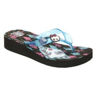 Monster High Girl's Flip Flop Sandal Frankiestein   Blue (11/12) Shoes