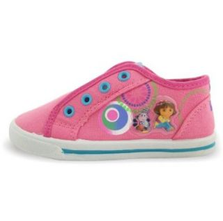 "Dora the Explorer Toddler Girls Slip On Canvas ""Laceless"" Shoes Pink Sneakers Size 5 Shoes"
