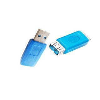 Afunta(tm) Usb3.0 Extension Adapter Coupler Plug Connector Supports Speeds of up to 4.8gbps Compatible with USB 2.0/1.1 Devices Solution to Cable Length Management or Addition Fully Shielded to Reduce EMI and Other Interference Sources, 2pcs Packed (Usb3.0