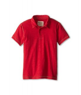 Joes Jeans Kids S/S Polo Shirt Boys Short Sleeve Button Up (Red)