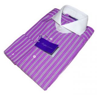 Polo Ralph Lauren Purple Label Mens Dress Shirt French Cuff Stripe 14.5 at  Men�s Clothing store