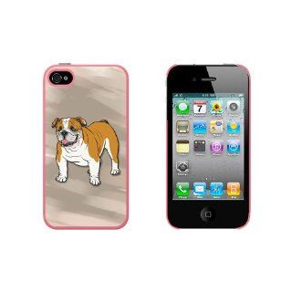 English Bulldog   Pet Dog Snap On Hard Protective Case for Apple iPhone 4 4S   Pink Cell Phones & Accessories