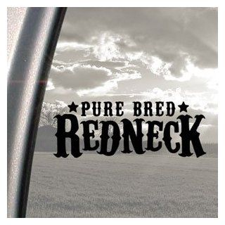 Pure Bred Redneck Black Decal Car Truck Window Sticker   Automotive Decals