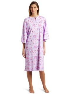 World's Biggest Sleep Shirt Women's Henley Sleepshirt, Lilac Hearts, One Size Nightgowns