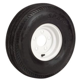 Trail America 4.80 x 8 Bias Trailer Tire 5 Lug Standard White Rim 98290