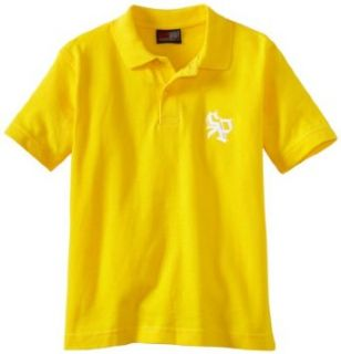 Southpole   Kids Boys 2 7 Solid Color Basic Logo Pique Polo Shirt, Yellow, Small Clothing