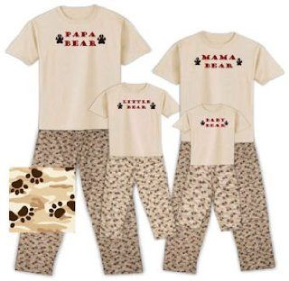 Papa Bear, Mama Bear, Little Bear, and Baby Bear Family Matching Pajamas, Baby 12/18 Months, Little Bear Baby