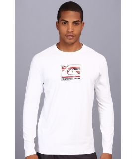 Quiksilver Pride L/S Surf Shirt Mens Swimwear (White)