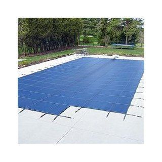 Arctic Armor 25x45 12yr Mesh Safety Pool Cover Blue Center End Step  Swimming Pool Covers  Patio, Lawn & Garden