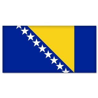 "Bosnia and Herzegovina Bosnian Flag car sticker 5"" x 4"" Automotive"