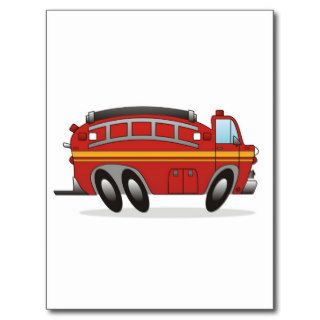 Fire Truck Post Cards