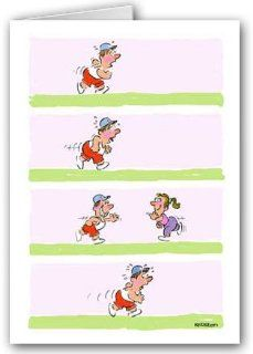 Funny Jogging Note Card Pack   Faking It Health & Personal Care