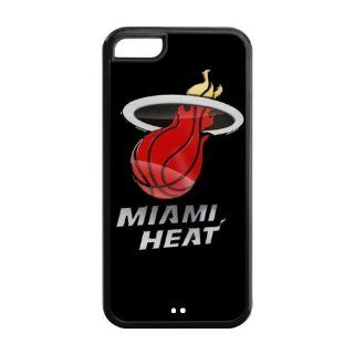 Custom Miami Heat Cover Case for iPhone 5C IP 22702 Cell Phones & Accessories