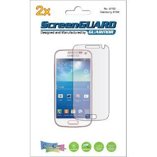 2x Samsung Galaxy S4 mini GT i9190 Duos GT i9192 GT i9195 Premium Invisible Clear LCD Screen Protector Cover Guard Shield Protective Film Kit (in GUARMOR Retail Package) Cell Phones & Accessories