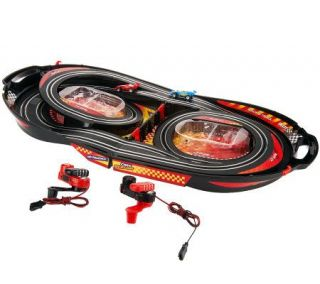 Crank Racers Slot Racing Track with 2 Cars & Carrying Case —