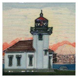 Point Robinson Vashon Wa Lighthouse Light House Decorative Ceramic Wall Art Tile 6x6   Lighthouse Backsplash Tile