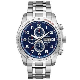 Bulova Marine Star Bracelet Blue Dial Men's Watch #96C121 at  Men's Watch store.