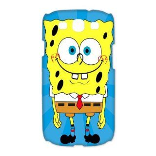 Custom Spongebob 3D Cover Case for Samsung Galaxy S3 III i9300 LSM 3287 Cell Phones & Accessories