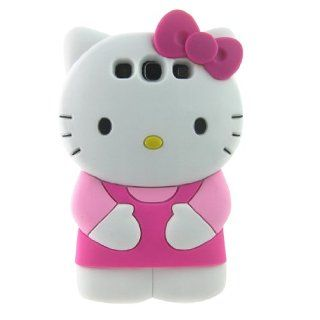 Cute 3d Hello Kitty Pink Soft Silicone Case for Samsung I9300 Galaxy S3 Cell Phones & Accessories