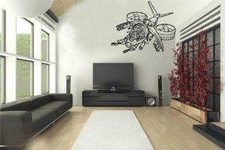 Helicopter From Future Wall Decor Vinyl Decal Sticker D 425