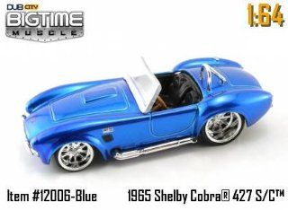 Jada Dub City Big Time Muscle Silver Blue 1965 Shelby Cobra 427 S/C 164 Scale Die Cast Car Toys & Games