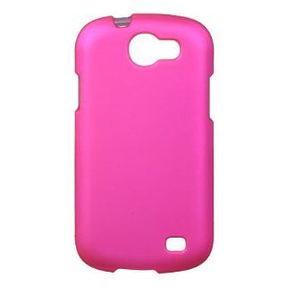 Hot Pink Rubberized Snap On Protector Case for Samsung Galaxy Express SGH i437 Cell Phones & Accessories