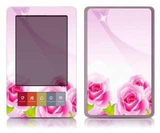 Bundle Monster Barnes & Noble Nook (Fit Nook Black & White Model Only) Ereader Vinyl Skin Cover Art Decal Sticker Protector Accessories   Pink Rose  Players & Accessories