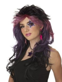 California Costumes Women's Truly Outrageous Wig, Black/Pink/Purple, One Size Clothing
