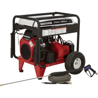 NorthStar Gas Cold Water Pressure Washer — 5.0 GPM, 5000 PSI, Electric Start, Belt Drive, Model# 1572091  Gas Cold Water Pressure Washers