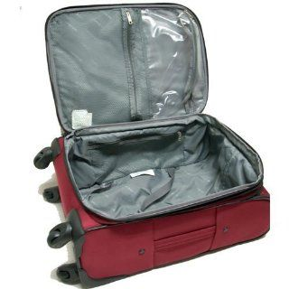 "Samsonite 3 Piece Travel Luggage Set W/27"" & 21"" 4 wheel Spinner and Toiletry Bag Burgundy Health & Personal Care"