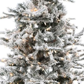 Vickerman Co. Flocked Sierra Fir 7 6 White Artificial Christmas Tree