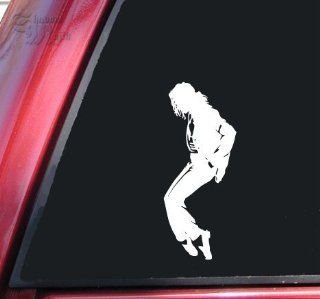 Michael Jackson Silhouette Vinyl Decal Sticker   White Automotive