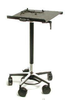 "Vision Laptop Computer Cart on Wheels includes 4"" Casters, 22"" Top, 26"" Wheel Base, Foot Adjustable Height Computers & Accessories"