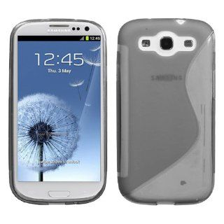 Fits Samsung i747 L710 T999 i535 R530 i9300 Galaxy S III Soft Skin Case Transparent Smoke S Shape Candy Skin AT&T Cell Phones & Accessories