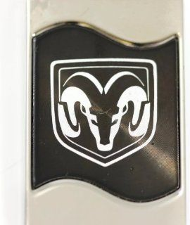 Dodge Ram Head Rectangular Wave Black Key Fob Authentic Logo Key Chain Key Ring Keychain Lanyard Automotive