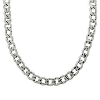 Mens 13.5mm Stainless Steel Curb Chain Necklace   22   Zales