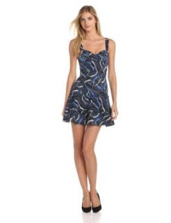 camilla and marc Women's Night Flute Print Dress